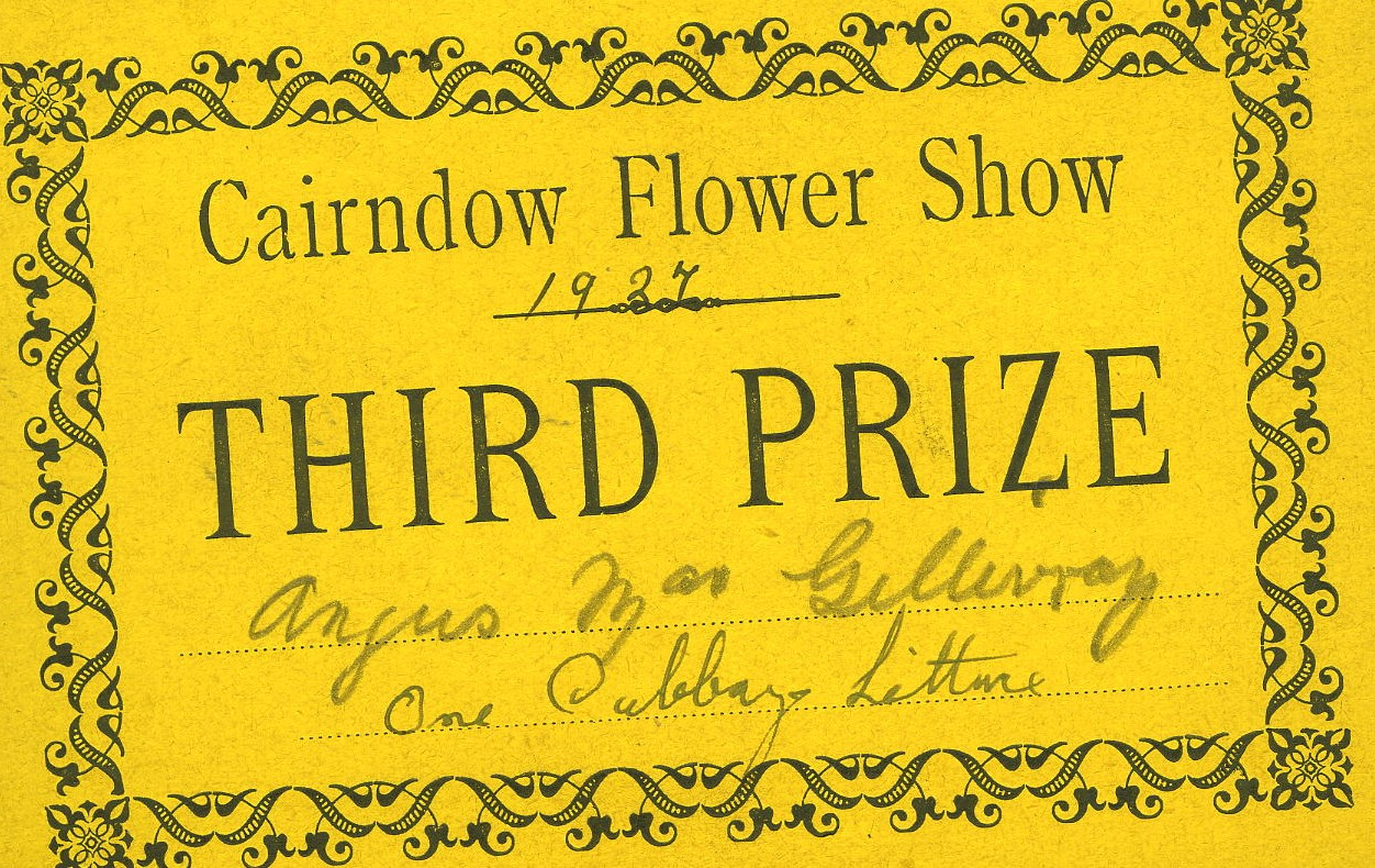 Cairndow Flower Show 1927