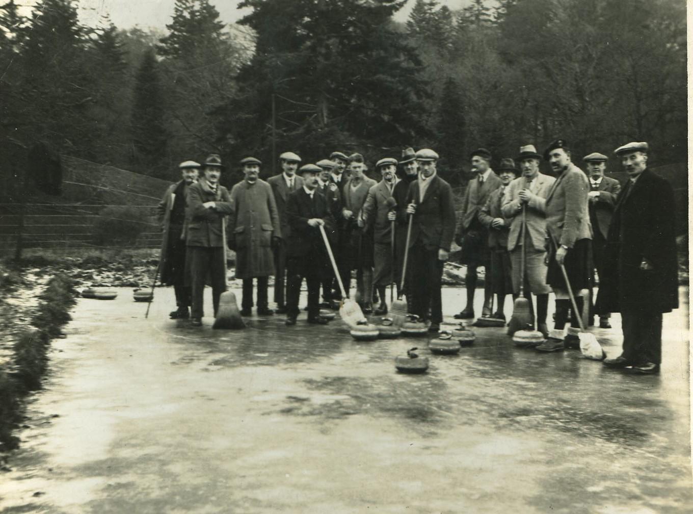 Curling on Ardkinglas Curling Pond