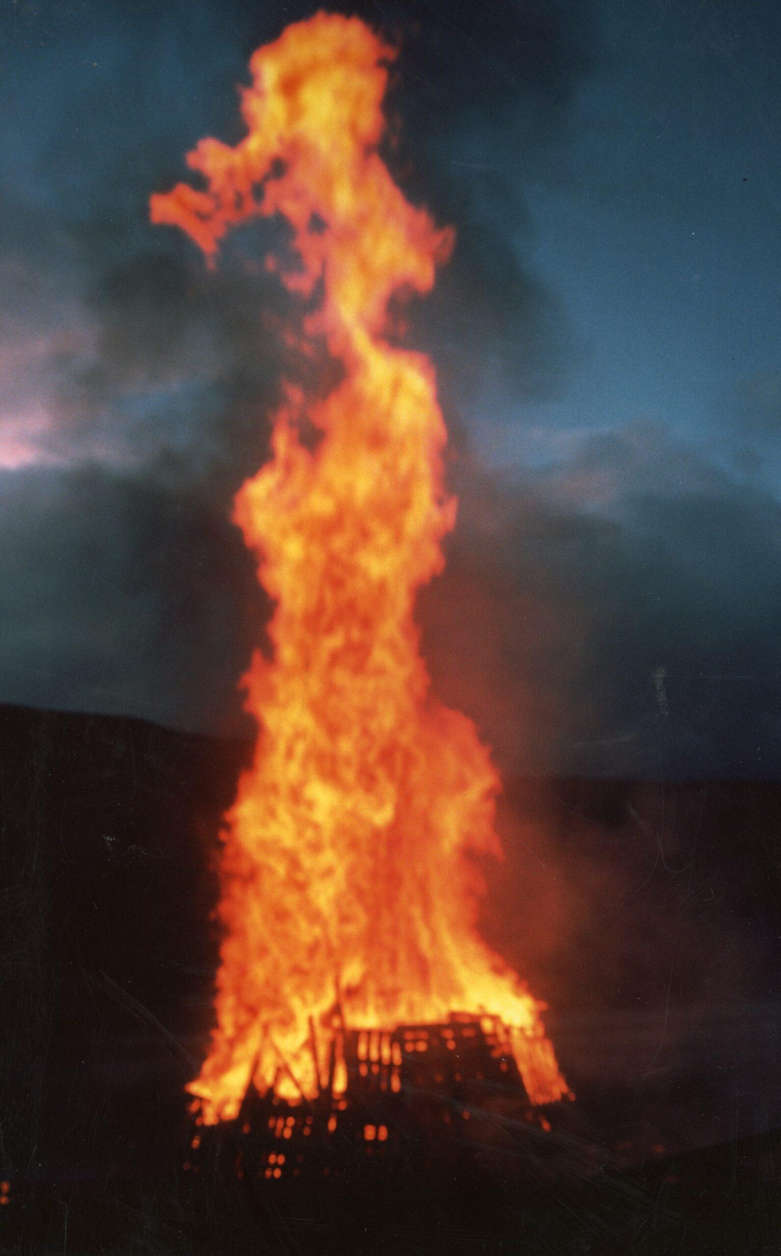 VE Day Bonfire
