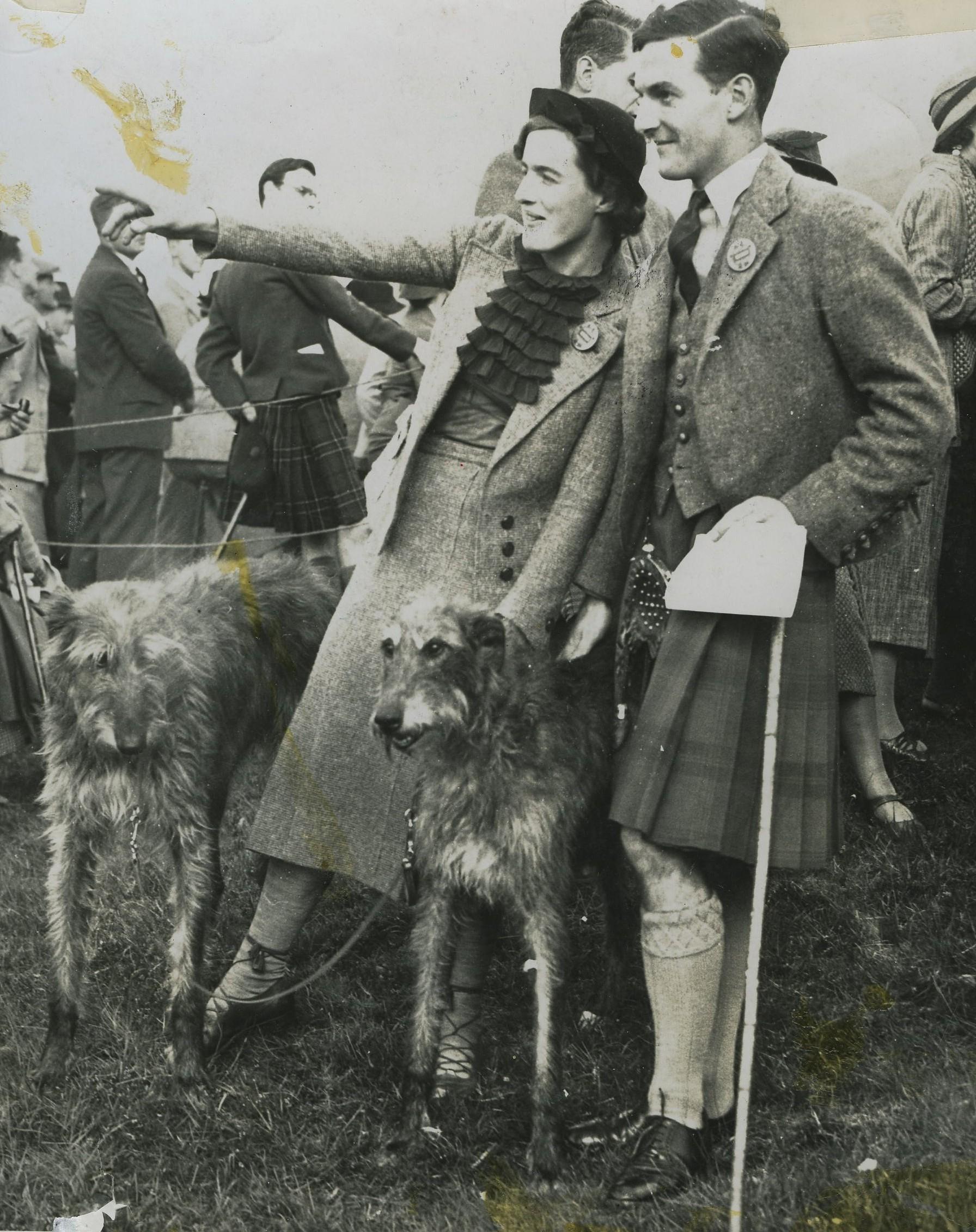 Anastasia Noble, Michael Noble & Deerhounds