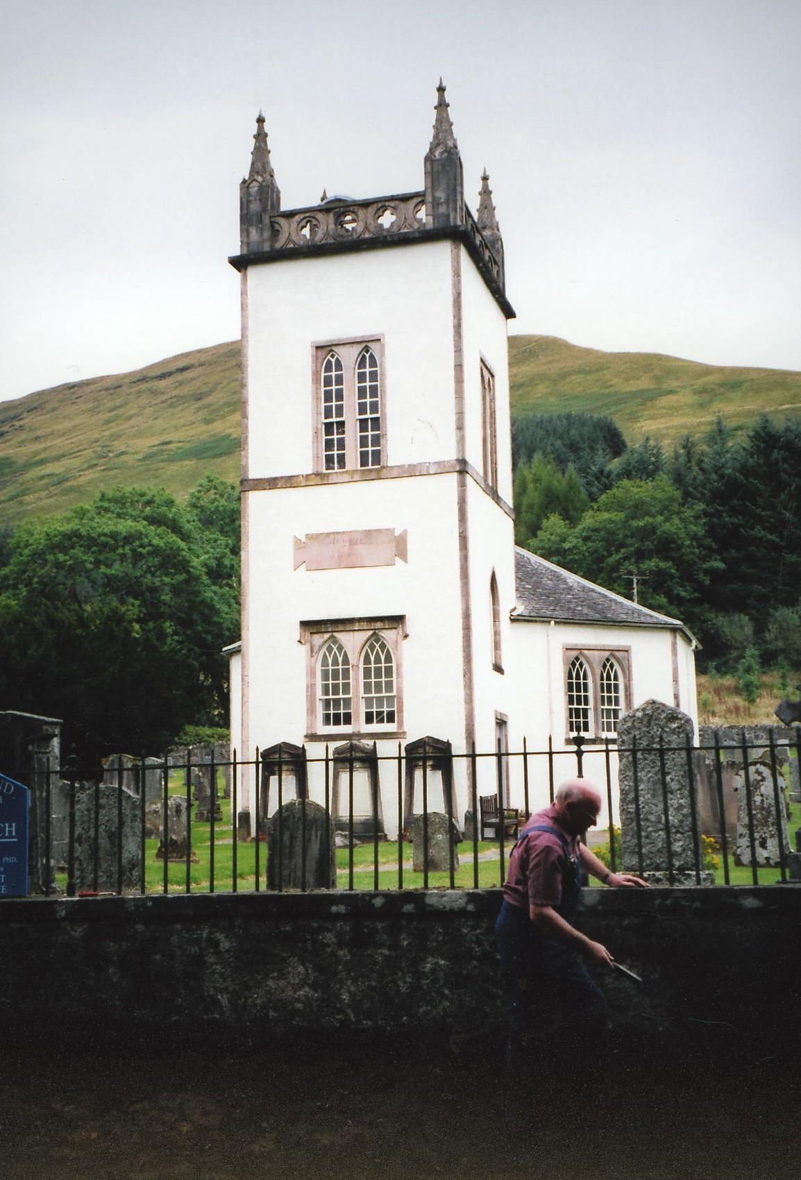 Taking banking away at Kilmorich Church