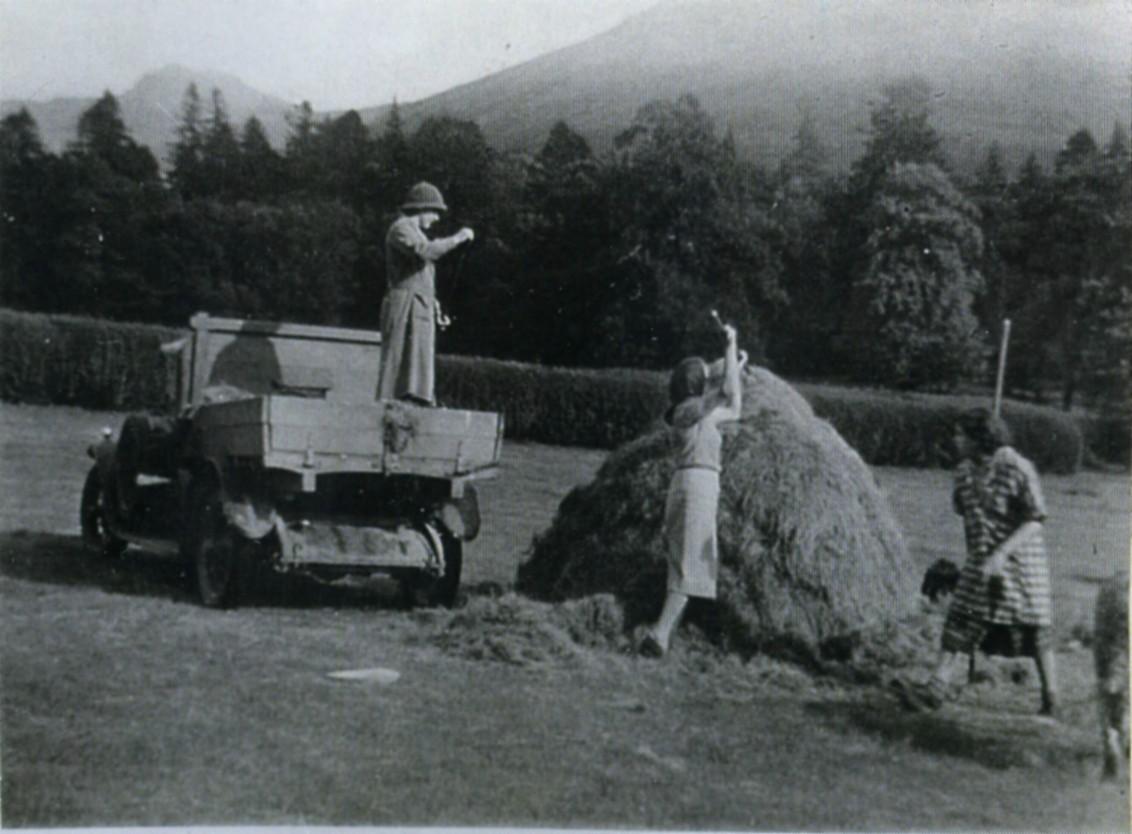 Haymaking at Ardkinglas