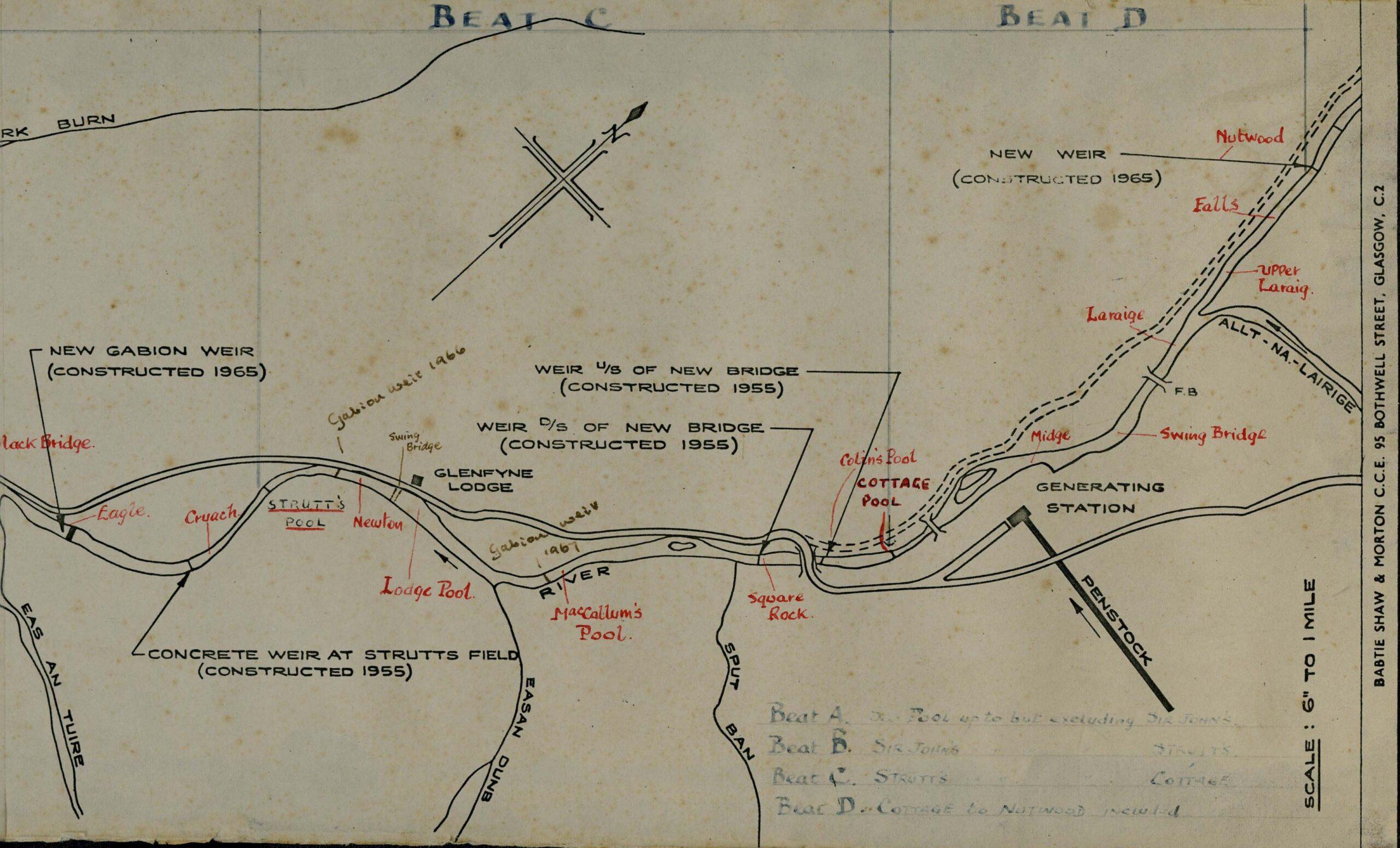 Map of River Fyne