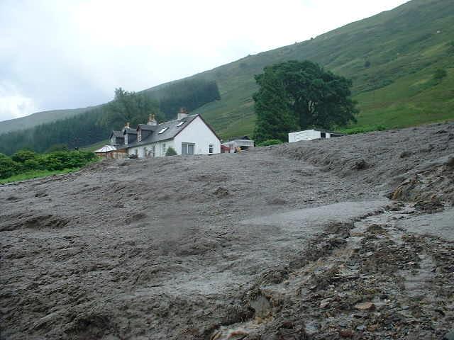 Landslide at Glaschoine