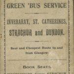 Montgomery's Garage, Strachur, Advert
