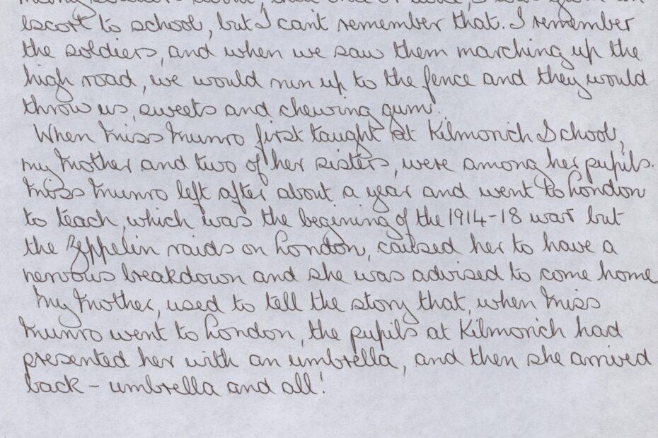 Kilmorich School Pupils memories