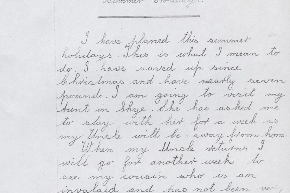 Correspondence Tuition letter by Margaret Robertson