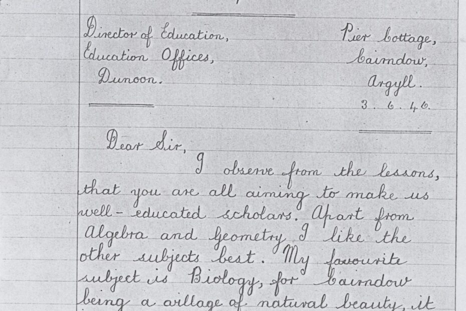 Correspondence Tuition letter by Margaret Taylor