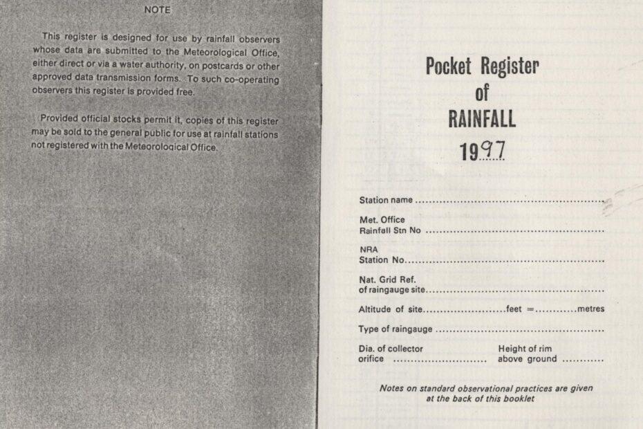 Rainfall - Pocket Register 1997