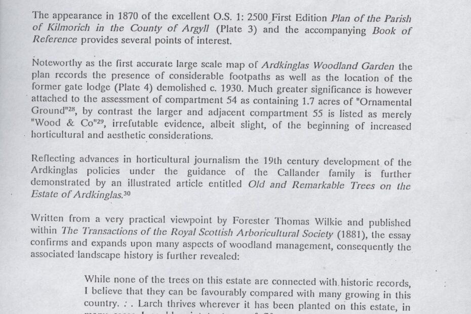 Ardkinglas Garden Research on Woodland Garden