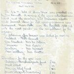 Press Secretary's Report 1989