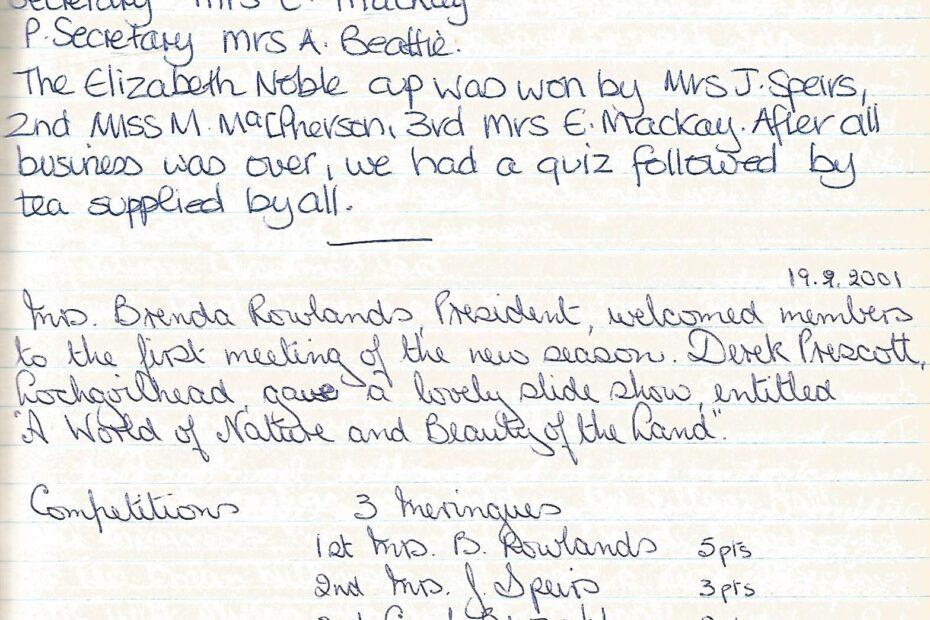 SWRI meeting report 2001