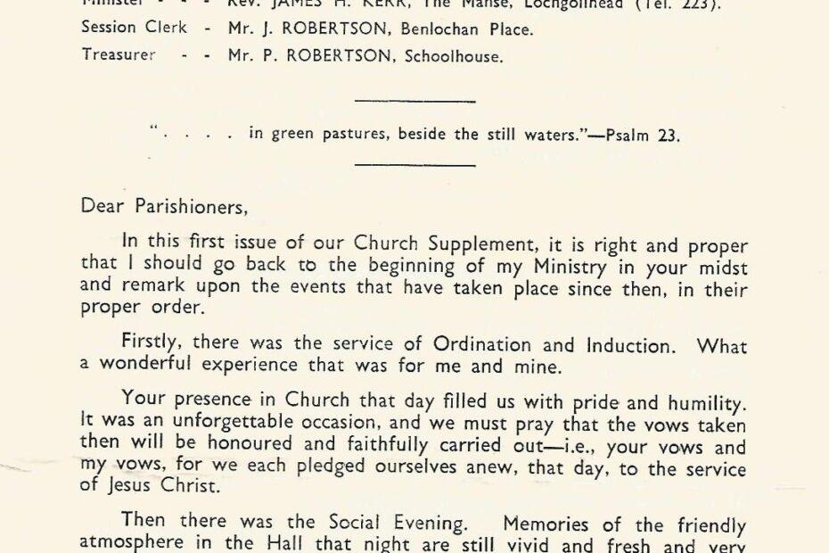 Kilmorich Church Supplement document