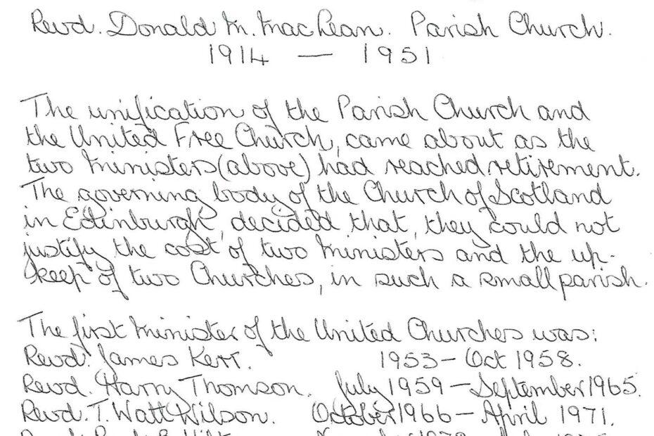 History of Kilmorich Church by Alice Beattie